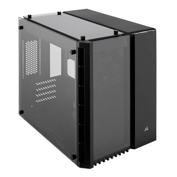 Product image for Corsair Crystal Series 280X Tempered Glass mATX Case Black | AusPCMarket Australia