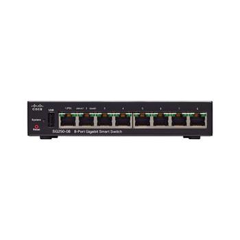 Cisco SG250-08 8-Port Gigabit Smart Switch Main Product Image