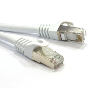 Product image for Hypertec CAT6A Shielded Cable 2m Grey/White Color 10GbE RJ45 Ethernet Network LAN S/FTP LSZH Cord 26AWG PVC Jacket | AusPCMarket Australia