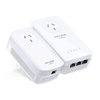 Product image for TP-Link TL-WPA8630P KIT AV1200 Wi-Fi Passthrough Powerline Range Extender | AusPCMarket Australia