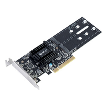 Product image for Synology M.2 SSD M2D18 Adapter Card - Supports M.2 NVME and SATA   AusPCMarket Australia