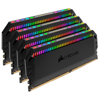 Product image for Corsair Dominator Platinum RGB 32GB (4x 8GB) DDR4 3000MHz Memory - Black | AusPCMarket Australia