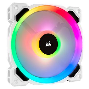 Product image for Corsair LL120 RGB 120mm Independent RGB PWM Fan White   AusPCMarket Australia