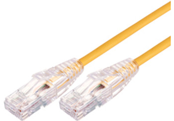 Product image for Comsol 0.5m 10GbE Ultra Thin Cat 6A UTP Snagless Patch Cable LSZH (Low Smoke Zero Halogen) - Yellow | AusPCMarket Australia