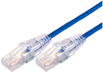 Product image for Comsol 1m 10GbE Ultra Thin Cat 6A UTP Snagless Patch Cable LSZH (Low Smoke Zero Halogen) - Blue | AusPCMarket.com.au