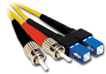 Product image for Comsol 10m ST-SC Single-Mode Duplex Fibre Patch Cable LSZH 9/125 OS2 | AusPCMarket Australia