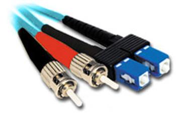 Product image for Comsol 1m ST-SC Multi-Mode Duplex Fibre Patch Cable LSZH 50/125 OM3   AusPCMarket Australia