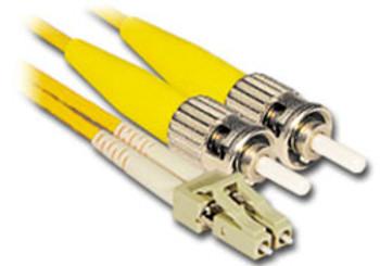Product image for Comsol 1m LC-ST Single-Mode Duplex Fibre Patch Cable LSZH 9/125 OS2   AusPCMarket Australia