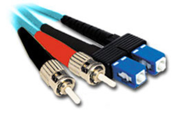 Product image for Comsol 1m ST-SC Multi-Mode Duplex Fibre Patch Cable LSZH 50/125 OM4 | AusPCMarket Australia