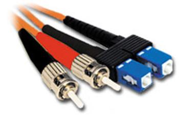 Product image for Comsol 1m ST-SC Multi-Mode Duplex Fibre Patch Cable LSZH 62.5/125 OM1 | AusPCMarket Australia