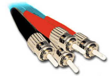 Product image for Comsol 1m ST-ST Multi-Mode Duplex Fibre Patch Cable LSZH 50/125 OM3 | AusPCMarket Australia
