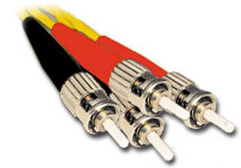 Product image for Comsol 1m ST-ST Single-Mode Duplex Fibre Patch Cable LSZH 9/125 OS2 | AusPCMarket Australia
