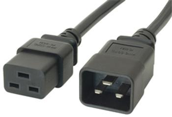 Product image for Comsol 0.5m 15A Power Extension Cable IEC-C19 to IEC-C20 | AusPCMarket Australia
