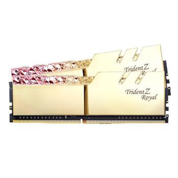 Product image for G.Skill Trident Z RGB Royal 32GB (2x 16GB) DDR4 CL16 3200MHz Memory - Gold | AusPCMarket Australia