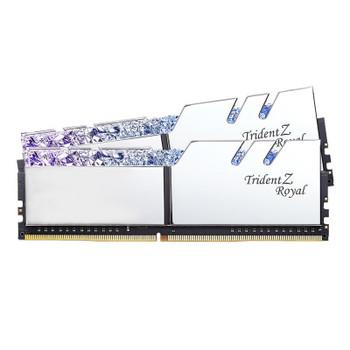 Product image for G.Skill Trident Z RGB Royal 32GB (2x 16GB) DDR4 CL16 3200MHz Memory - Silver | AusPCMarket Australia