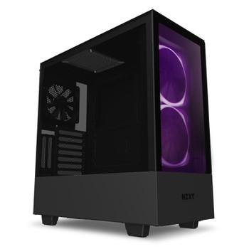 Product image for NZXT H510 Elite RGB Mid Tower Case Matte Black/Black   AusPCMarket Australia
