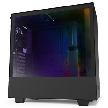 Product image for NZXT H510i Smart Mid Tower Case Matte Black/Black | AusPCMarket Australia