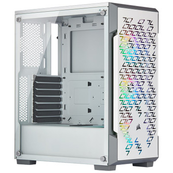 Product image for Corsair iCUE 220T RGB Airflow TG Mid Tower Case White | AusPCMarket Australia