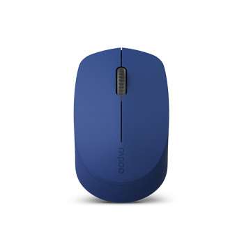 Product image for Rapoo M100 Multi-Mode Wireless Bluetooth Quiet Click Mouse - Blue | AusPCMarket Australia