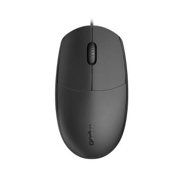 Product image for Rapoo N100 Wired USB Optical Ambidextrous Mouse - Black | AusPCMarket Australia