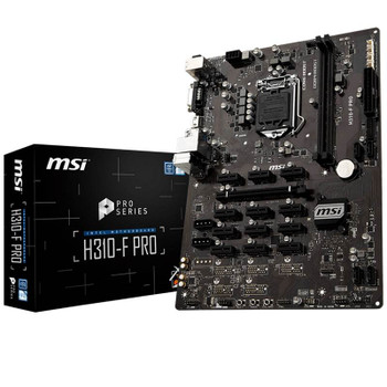 Image for MSI H310F-PRO Mining LGA 1151-2 13 PCIe Slot ATX Motherboard AusPCMarket