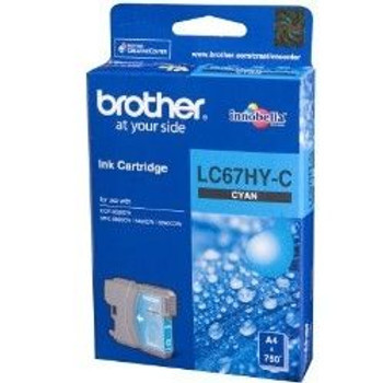Image for Brother LC67HY-C High Yield Cyan Ink Cartridge AusPCMarket