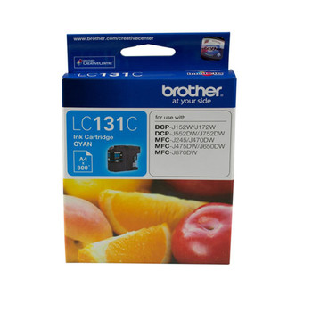 Image for Brother LC131 Cyan Ink Cart up to 300 pages Cyan AusPCMarket