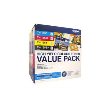 Image for Brother TN155 4 Colour Toner Pack - Black, Cyan, Magenta, Yellow AusPCMarket