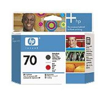 Image for HP 70 Matte Black & Red Printhead for Designjet(C9409A) AusPCMarket