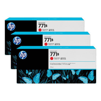 Image for HP771B 775ML 3-Pack Ink Cartridge - Chromatic Red (B6Y24A) AusPCMarket