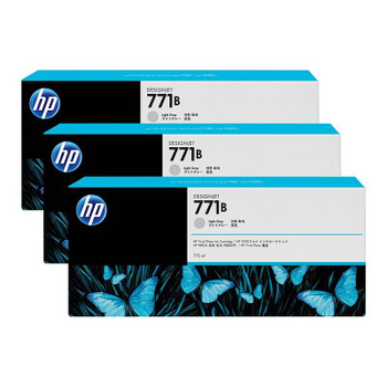 Image for HP771B 775ML 3-Pack Ink Cartridge - Light Grey (B6Y30A) AusPCMarket