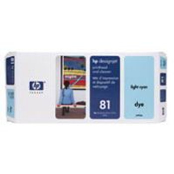 Image for HP 81 Light Cyan Dye Printhead And Cleaner (C4954A) AusPCMarket