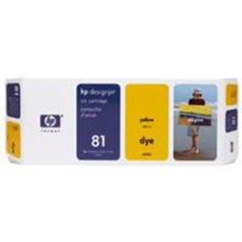 Image for HP 81 Yellow Dye Ink Cartridge (C4933A) AusPCMarket