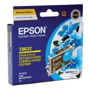 Image for Epson T0632 Stylus Cyan Ink 380 pages (T063290) AusPCMarket