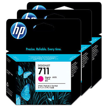 Image for HP 711 3-pack 29-ml Magenta Ink Cartridge CZ135A AusPCMarket