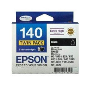 Image for Epson 140 Black Twin Pack 945 pages x 2 Black AusPCMarket