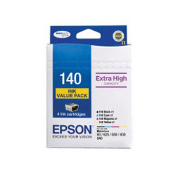 Image for Epson 140 Ink Value Pack col 755 pages Blk 945 pages Misc Consumables AusPCMarket