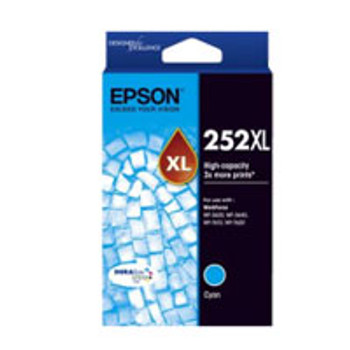 Image for Epson 252 HY Cyan Ink Cart 1,100 pages Cyan AusPCMarket
