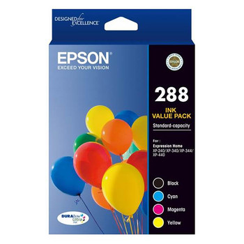 Image for Epson 288 Standard Capacity DURABrite Ultra CMYK Colour Ink Cartridge Pack AusPCMarket