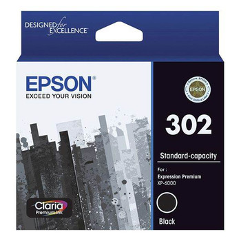 Image for Epson 302 Standard Capacity Claria Premium Black Ink Cartridge AusPCMarket