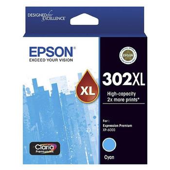 Image for Epson 302XL High Capacity Claria Premium Cyan Ink Cartridge AusPCMarket