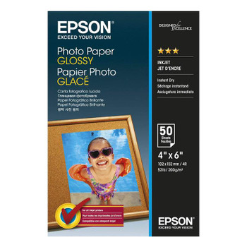 Image for Epson 4in x 6in Glossy Photo Paper 50 Sheets AusPCMarket