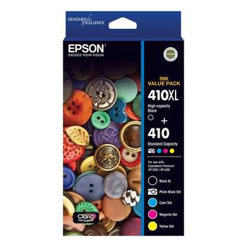 Image for Epson 410XL Black + 410 PBCMY Claria Premium Ink Cartridge Value Pack AusPCMarket