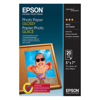 Image for Epson 5in x 7in Glossy Photo Paper 20 Sheets AusPCMarket