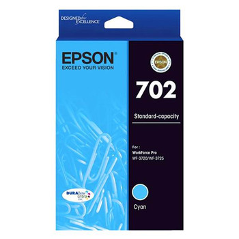 Image for Epson 702 Standard Capacity DURABrite Ultra Cyan Ink Cartridge AusPCMarket