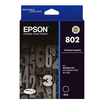 Image for Epson 802 Standard Capacity DURABrite Ultra Black Ink Cartridge AusPCMarket