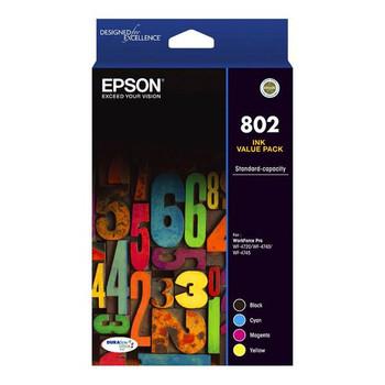 Image for Epson 802 Standard Capacity DURABrite Ultra CMYK Colour Ink Cartridge Pack AusPCMarket
