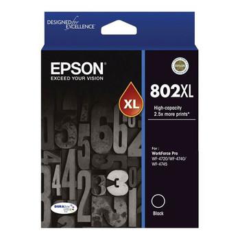 Image for Epson 802XL High Capacity DURABrite Ultra Black Ink Cartridge AusPCMarket