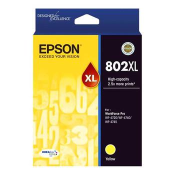 Image for Epson 802XL High Capacity DURABrite Ultra Yellow Ink Cartridge AusPCMarket