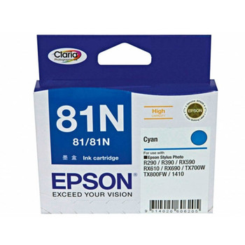 Image for Epson 81N HY Cyan Ink Cart 805 pages Cyan AusPCMarket